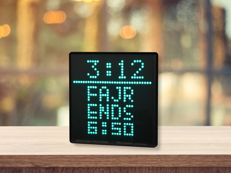 Automatic Azan/Salaah/Namaz/Prayers Timings LED Display for
